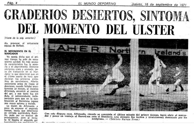Crónica Mundo Deportivo Distillery-FC Barcelona